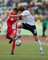 Jack McInerney. US Under-17 Men's National Team defeated United Arab Emirates 1-0 at Gateway International  Stadium in Ijebu-Ode, Nigeria on November 1, 2009.
