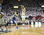Ole Miss' Marshall Henderson (22) vs. Kentucky's Kyle Wiltjer (33) at the C.M. &quot;Tad&quot; Smith Coliseum on Tuesday, January 29, 2013. Kentucky won 87-74. (AP Photo/Oxford Eagle, Bruce Newman)..