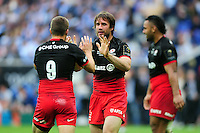 Marcelo Bosch of Saracens celebrates late in the game. European Rugby Champions Cup Final, between Saracens and Racing 92 on May 14, 2016 at the Grand Stade de Lyon in Lyon, France. Photo by: Patrick Khachfe / Onside Images