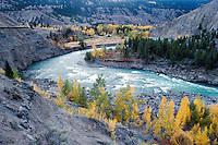 Cariboo Chilcotin Coast Region, BC, British Columbia, Canada - Chilcotin River flowing through Farwell Canyon