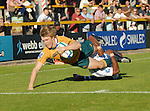 Blair Connor dives over for Australia. Australia U20 V Fiji U20. IRB Junior Rugby World Cup 2008© Ian Cook IJC Photography iancook@ijcphotography.co.uk www.ijcphotography.co.uk.