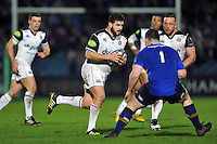 Rob Webber of Bath Rugby goes on the attack. European Rugby Champions Cup match, between Leinster Rugby and Bath Rugby on January 16, 2016 at the RDS Arena in Dublin, Republic of Ireland. Photo by: Patrick Khachfe / Onside Images