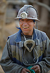 A miner outside a mine in Potosi, Bolivia. The mine produces silver and other metals.