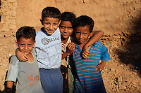 Kids in the Old Town of Mut, Dakhla Oasis