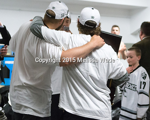 - The Providence College Friars celebrated their national championship win after the Frozen Four final at TD Garden on Saturday, April 11, 2015, in Boston, Massachusetts.