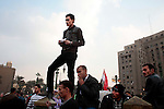 Protesters on Tahrir Square  on November 25, 2011 in Cairo, Egypt.