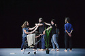 "Choreographer, Christian Rizzo, presents ""d'apres une histoire vraie"" at Sadler's Wells. The dancers are: Fabien Almakiewicz, Filipe Lourenco, Kerem Gelebek, Massimo Fusco, Miguel Garcia Llorens, Pep Garriges, Roberto Martinez, Smain Boucetta."