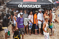 SNAPPER ROCKS, Queensland/Australia (Wednesday, March 3, 2010) - With pumping three-to-five foot (1 - 2 metre) waves running down the point at Snapper Rocks today, Round 3 of the Quiksilver Pro Gold Coast presented by Land Rover went off in front of a capacity crowd on the beach and hundreds of thousands watching online and FUEL TV.     The opening event of the 2010 ASP World Tour season, the Quiksilver Pro Gold Coast has consolidated the greatest assemblage of surfing talent in history, and with one of the most iconic pointbreaks in the world firing throughout the day, the world's best put on an incendiary performance.    Bede Durbidge (AUS), 27, current ASP World No. 3, proved the form surfer of the day, posting a near-perfect 19.30 out of a possible 20, to dispatch of Luke Munro (AUS), 27, in their Round 3 bout. Durbidge blended deep tube rides with progressive forehand gaffs en route to his emphatic victory, even posting the day's highest single wave score of a 9.93 out of a possible 10. . Kelly Slater (USA), 38, former nine-time ASP World Champion and current ASP World No. 6, negotiated the varying afternoon conditions today, putting in a solid performance against 2010 ASP Dream Tour rookie Patrick Gudauskas (USA), 24, in Round 3..Mick Fanning (AUS), 28, reigning two-time ASP World Champion, continued his searing form through Round 3 today, besting 2010 ASP World Tour rookie Brett Simpson (USA), 25, with an intimate rapport with the Snapper Rocks sand bank. .Joel Parkinson(AUS) also put in one of the performances of the round picking up two 8 point rides in the opening minutes of his heat with barreling waves form behind the Snapper Rocks. Photo: joliphotos.com