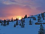 Beautyful sunset at Venabygdsfjell in the Norwegian mountains, just outside Ringebu this Easter