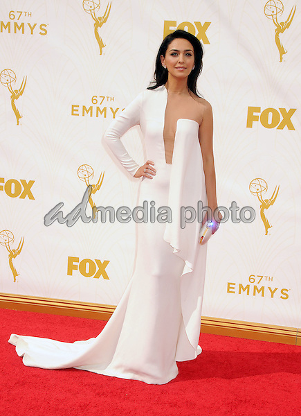 20 September 2015 - Los Angeles, California - Nazanin Boniadi. 67th Annual Primetime Emmy Awards - Arrivals held at Microsoft Theater. Photo Credit: Byron Purvis/AdMedia