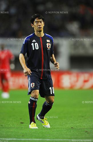 Shinji Kagawa (JPN),.SEPTEMBER 6, 2012 - Football / Soccer :.Kirin Challenge Cup 2012 match between Japan 1-0 United Arab Emirates at Tohoku Denryoku Big Swan Stadium in Niigata, Japan. (Photo by FAR EAST PRESS/AFLO)