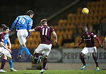 St Johnstone v Hearts&hellip;05.04.17     SPFL    McDiarmid Park<br />Joe Shaughnessy scores<br />Picture by Graeme Hart.<br />Copyright Perthshire Picture Agency<br />Tel: 01738 623350  Mobile: 07990 594431