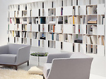 Wall bookcase home library contemporary interior design