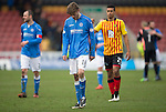 Partick Thistle v St Johnstone.....14.03.15<br /> Murray Dvaidson trudges off at full time<br /> Picture by Graeme Hart.<br /> Copyright Perthshire Picture Agency<br /> Tel: 01738 623350  Mobile: 07990 594431