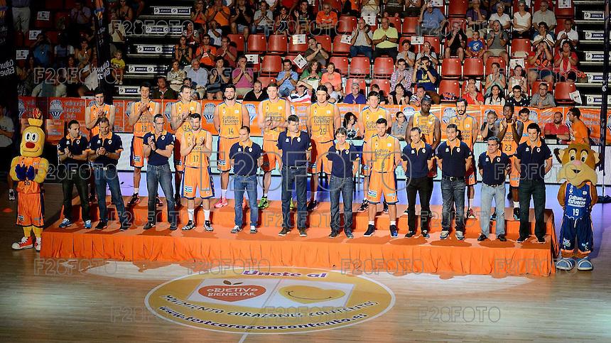 Valencia Basket 80 - 73 CAI Zaragoza (2014 season presentation)