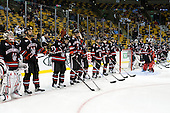 - The Boston College Eagles defeated the Northeastern University Huskies 5-4 in their Hockey East Semi-Final on Friday, March 18, 2011, at TD Garden in Boston, Massachusetts.