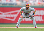 29 May 2016: St. Louis Cardinals infielder Matt Carpenter in action against the Washington Nationals at Nationals Park in Washington, DC. The Nationals defeated the Cardinals 10-2 to split their 4-game series. Mandatory Credit: Ed Wolfstein Photo *** RAW (NEF) Image File Available ***