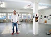 UK ENGLAND LONDON 8NOV02 - Art photographer and Turner Prize winner Wolfgang Tillmans inside his studio in Bethnal Green, East London.<br /> Photography by Jiri Rezac<br /> Tel 0044(0)208 944 6933<br /> www.linkphotographers.com
