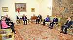 Egyptian President Abdel Fattah al-Sisi, meets with a delegation of members of the US House of Representatives, in Cairo, Egypt, on April 8, 2017. Photo by Egyptian President Office