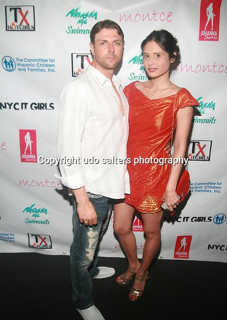 Michael Cary and  Nerissa C. Karin Attend Swim Sunrise Fashion Show Held at New York Aqua Bar & Lounge inside Grace Hotel, NY 7/27/12