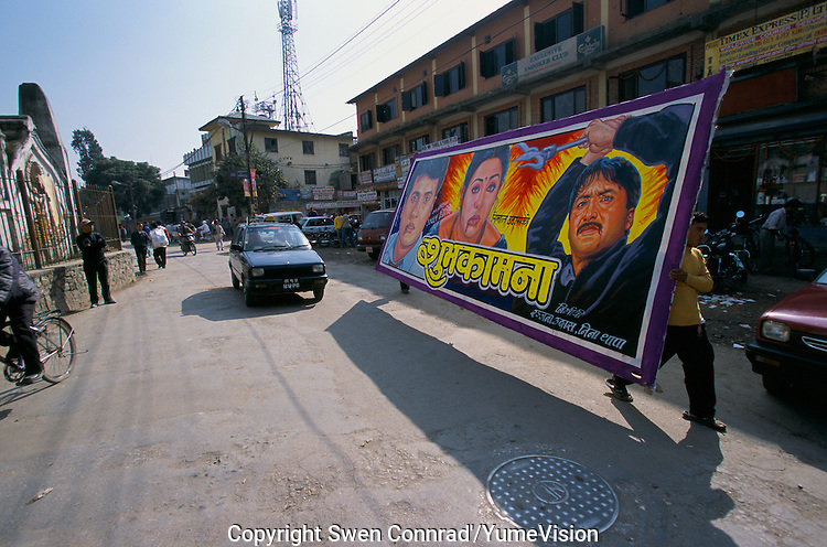A bollywood poster in Kathmandu street Nepal