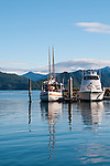 New Zealand South Island, harbor at Picton. Photo copyright  Lee Foster.