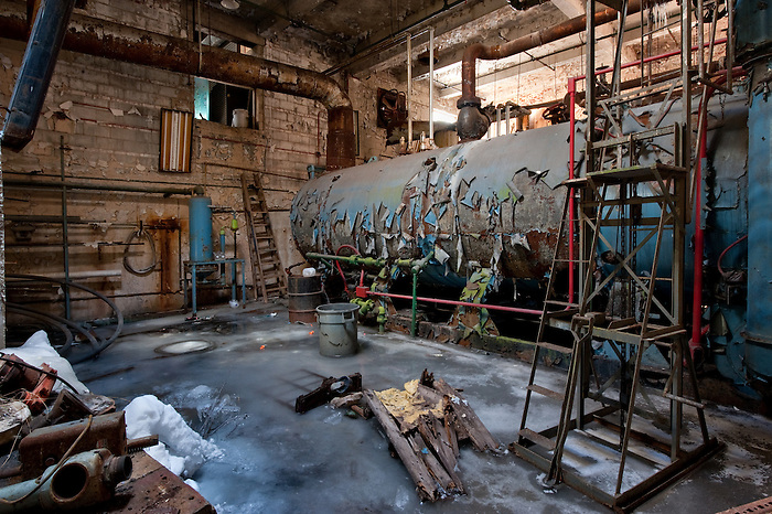 The Boiler Room of an Abandoned Hotel in the Catskills of New York