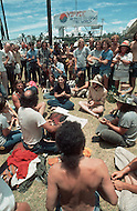 """Dallas, Texas, USA, Juin, 1972, Explo 72. The """"Campus Crusade for Christ"""" gathered 80,000 faithful during 5 days to listen to evangelist including Billy Graham, singers such as Johnny cash, groups like Love Song and for the first time ever, rock groups."""