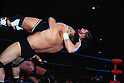 (T-B)  Steve Williams, Jumbo Tsuruta, ..DECEMBER 7, 1990 - Pro Wrestling :..Jumbo Tsuruta throws Steve Williams during the All Japan Pro-Wrestling event at Nippon Budokan in Tokyo, Japan. (Photo by Yukio Hiraku/AFLO)