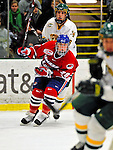 20 February 2009: University of Massachusetts Lowell River Hawks' forward Michael Budd, a Freshman from Burlington, Ontario, in action against the University of Vermont Catamounts at Gutterson Fieldhouse in Burlington, Vermont. The teams battled to a 3-3 tie. Mandatory Photo Credit: Ed Wolfstein Photo