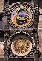 Astronomical clock Old Town Square Prague Czech Republic.