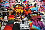 Americas, South America, Peru, Pisac. Wool knit items at Pisac market.