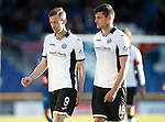Inverness Caledonian Thistle v St Johnstone...24.10.15  SPFL  Tulloch Stadium, Inverness<br /> Steven MacLean and Graham Cummins<br /> Picture by Graeme Hart.<br /> Copyright Perthshire Picture Agency<br /> Tel: 01738 623350  Mobile: 07990 594431