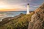 Castlepoint lighthouse at sunrise, Wairarapa,
