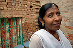 Agnes Yousaf, Church of Pakistan field worker with female sex workers in town of Youhanabad, Punjab..