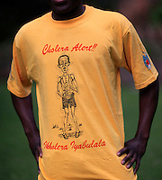 A cholera awareness T-shirt...