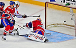 13 December 2008: Montreal Canadiens' goaltender Jaroslav Halak from the Slovak Republic gives up a first period goal to the Washington Capitals at the Bell Centre in Montreal, Quebec, Canada. ***** Editorial Sales Only ***** Mandatory Photo Credit: Ed Wolfstein Photo