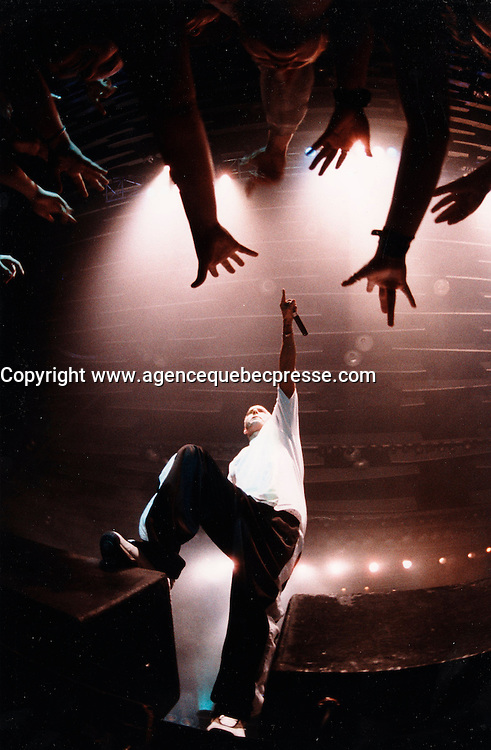 Montreal (Qc) CANADA - April 2000 File photo  - EMINEM