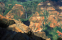 "Waimea Canyon, sometimes called ""the Grand Canyon of the Pacific""; Waimea Canyon State Park, Kauai, Hawaii. ."