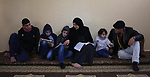 Aisha al-Baroud, 44, a Palestinian woman with breast cancer teaches her children in the northern Gaza stirp on Feb. 13, 2017. al-Baroud with breast cancer for more three years makes artificial breasts for mastectomy survivors for free, and she dosen't completed her treatment in Israeli hospitals because Israeli rejection. according health information center, breast cancer comes first By 17.8% of total cancer cases in Gaza strip. Photo by Khaled Abu Alouf
