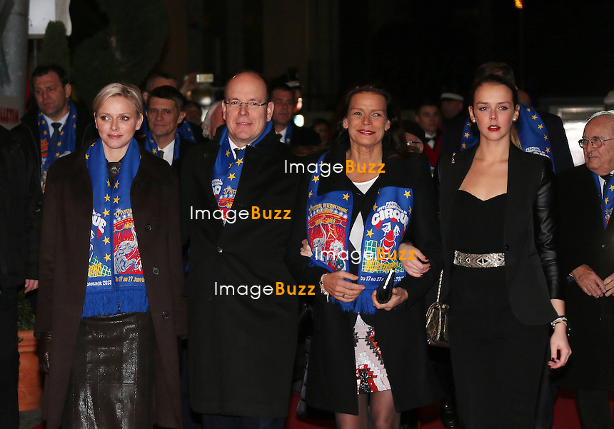 MONACO, PRINCELY FAMILY ATTENDS THE 37TH CIRCUS FESTIVAL CEREMONY - January 17, 2013-Monaco (MCO)-Monaco Princely Family arrives at the 37th Monte-Carlo Circus Festival Opening Ceremony. Princess Stephanie with her daughter Pauline Ducruet and Prince Albert with Princess Charlene attend this ceremony..