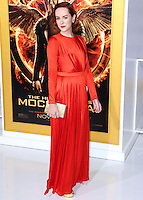 LOS ANGELES, CA, USA - NOVEMBER 17: Jena Malone arrives at the Los Angeles Premiere Of Lionsgate's 'The Hunger Games: Mockingjay, Part 1' held at Nokia Theatre L.A. Live on November 17, 2014 in Los Angeles, California, United States. (Photo by Xavier Collin/Celebrity Monitor)