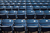 April 1, 2012. Durham, NC.. Several sections of the got new seats.. During the off season, many renovations were performed on the facilities at the Durham Bulls Athletic Park, including refurbished locker rooms, a newly painted Blue Monster and many new seats installed around the park.