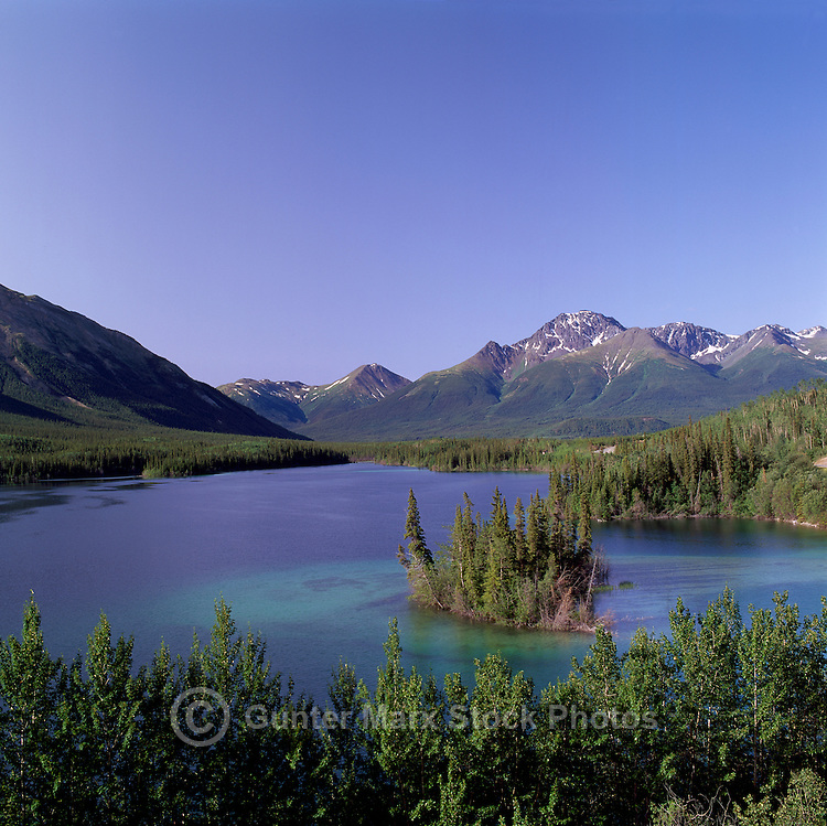 """Good Hope"" Lake and Cassiar Mountains, BC, Northern British Columbia, Canada - along Stewart Cassiar Highway 37, Summer"