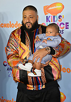 DJ Khaled &amp; son at the Nickelodeon 2017 Kids' Choice Awards at the USC's Galen Centre, Los Angeles, USA 11 March  2017<br /> Picture: Paul Smith/Featureflash/SilverHub 0208 004 5359 sales@silverhubmedia.com