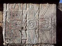 Symbol of Venus, The Temple of Venus, 1100-1300 AD, Toltec Architecture, Chichen Itza, Yucatan, Mexico. Picture by Manuel Cohen
