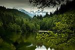 Alice lake close to Squamish. North Vancouver, British Columbia, Canada.