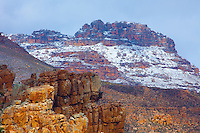 Snow in the Cederberg Ranges.Cederberg  Wilderness,  South Africa.Western Cape Region