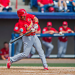 13 March 2016: St. Louis Cardinals infielder Paul DeJong, ranked the 18th Top Prospect in the Cardinals organization for 2016 by MLB, in action during a pre-season Spring Training game against the Washington Nationals at Space Coast Stadium in Viera, Florida. The teams played to a 4-4 draw in Grapefruit League play. Mandatory Credit: Ed Wolfstein Photo *** RAW (NEF) Image File Available ***