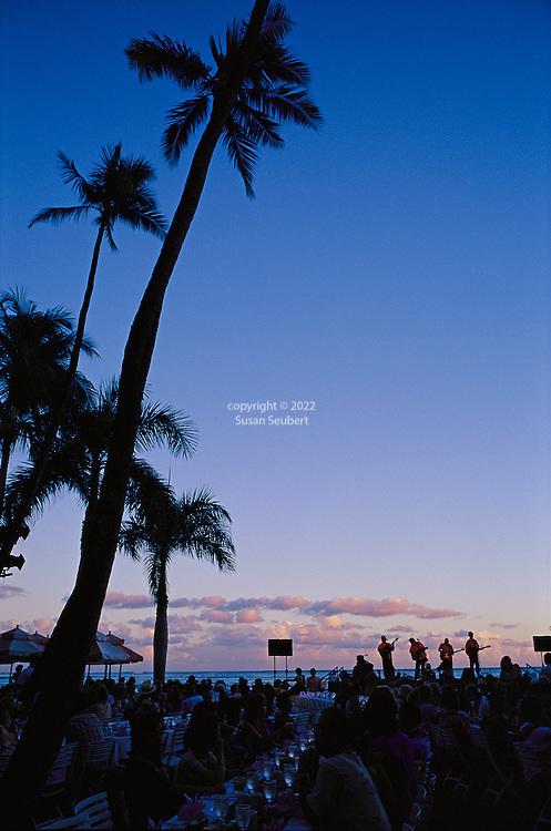 The Luau at the Royal Hawaiian Hotel at sunset